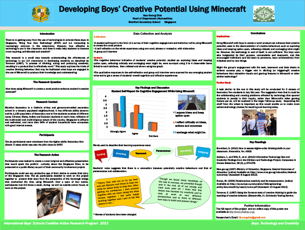 Developing Boys' Creative Potential Using Minecraft — Hua Hoong Chia, Montfort Secondary School, Singapore