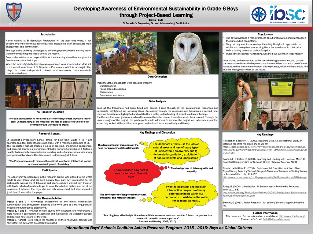Developing Awareness of Environmental Sustainability in Grade 6 Boys Through Project-Based Learning — Travis Flude, St. Benedict's Preparatory School, South Africa
