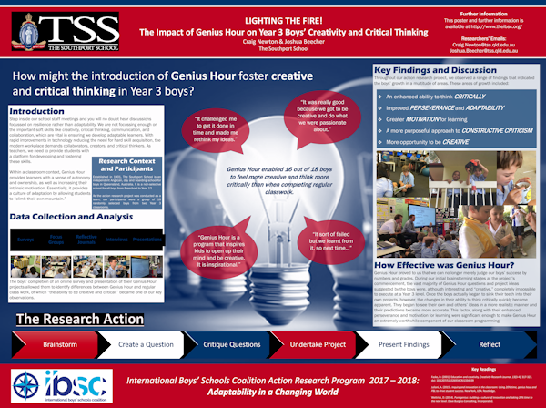 Lighting The Fire: The Impact Of Genius Hour On Year 3 Boys' Creativity And Critical Thinking