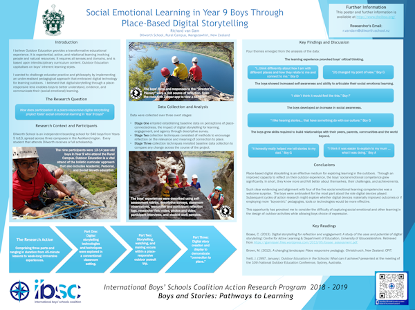 Year 9 Boys' Outdoor Education: Social Emotional Learning Through Place-Based Digital Storytelling