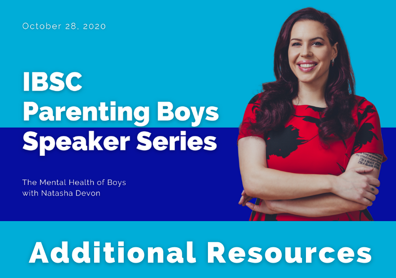 IBSC Boys Mental Health resources